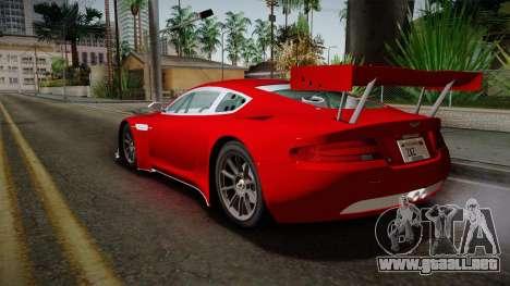Aston Martin Racing DBRS9 GT3 2006 v1.0.6 YCH v2 para la visión correcta GTA San Andreas
