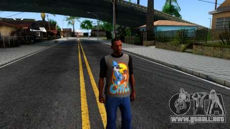 Regular Show T-shirt para GTA San Andreas segunda pantalla