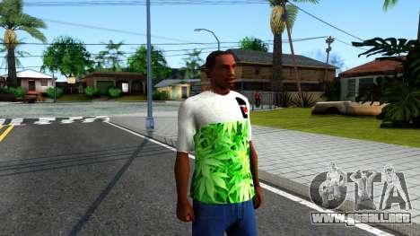 Design Weedleaves T-Shirt para GTA San Andreas segunda pantalla
