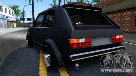 VW Golf Mk1 GTI Stance para la visión correcta GTA San Andreas
