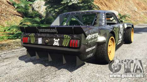 GTA 5 Ford Mustang 1965 Hoonicorn drift [add-on] vista lateral izquierda trasera