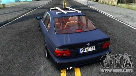 BMW e39 530d para GTA San Andreas vista posterior izquierda