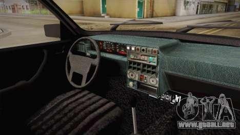 Dacia 1310 Berlina Tunata para visión interna GTA San Andreas