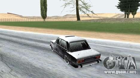 VAZ 2106 versión de invierno para la visión correcta GTA San Andreas