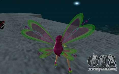 Fairy Roxy from Winx Club Rockstars para GTA San Andreas tercera pantalla