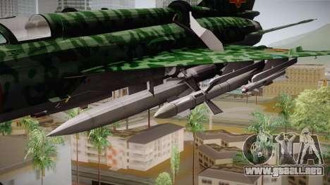 MIG-21 Norvietnamita para GTA San Andreas vista posterior izquierda