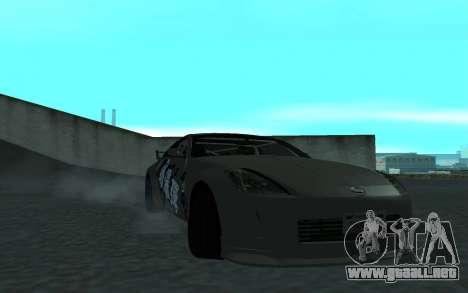 Nissan 350Z para vista lateral GTA San Andreas