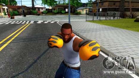 Black With Flames Boxing Gloves Team Fortress 2 para GTA San Andreas tercera pantalla