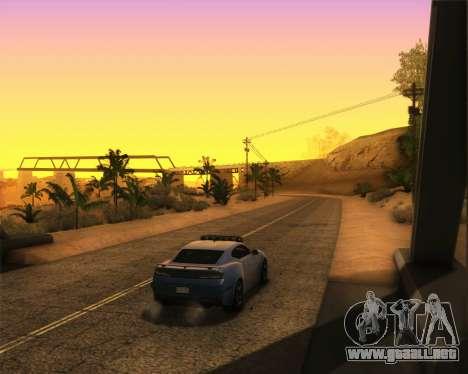 Chevrolet Camaro SS Xtreme para GTA San Andreas vista posterior izquierda