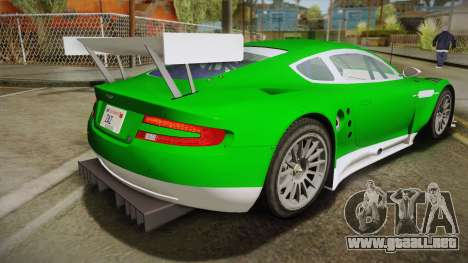 Aston Martin Racing DBR9 2005 v2.0.1 YCH Dirt para GTA San Andreas left