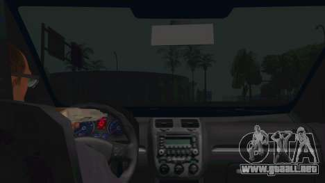 Volkswagen Golf MK para visión interna GTA San Andreas