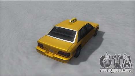 Taxi Winter IVF para GTA San Andreas vista posterior izquierda