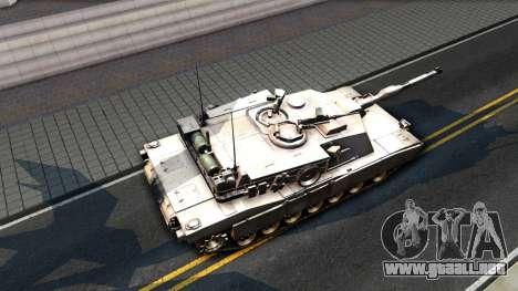 M1A1 Abrams COD4MW Remastered para GTA San Andreas vista posterior izquierda