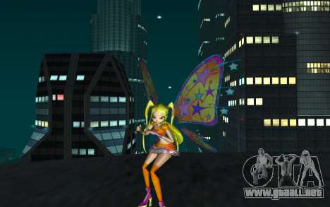 Stella Believix from Winx Club Rockstars para GTA San Andreas segunda pantalla