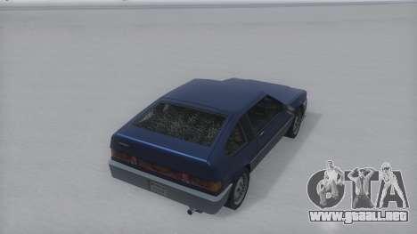 Blista Compact Winter IVF para GTA San Andreas vista posterior izquierda
