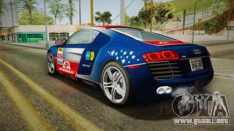 Audi R8 Coupe 4.2 FSI quattro US-Spec v1.0.0 YCH para GTA San Andreas