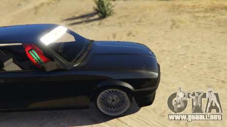 GTA 5 BMW E30 Drift vista lateral trasera derecha