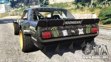GTA 5 Ford Mustang 1965 Hoonicorn [add-on] vista lateral izquierda trasera