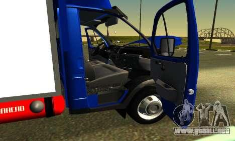Gazel 3302 Negocio para visión interna GTA San Andreas