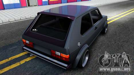 VW Golf Mk1 GTI Stance para GTA San Andreas vista posterior izquierda
