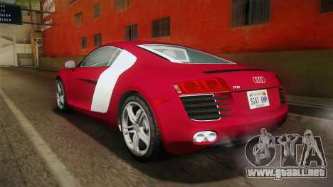 Audi R8 Coupe 4.2 FSI quattro US-Spec v1.0.0 YCH para GTA San Andreas left