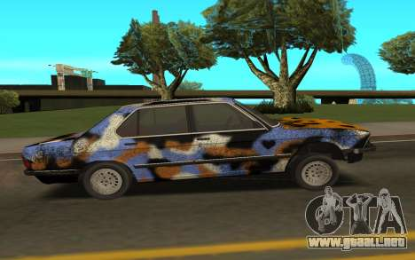 BMW E28 para GTA San Andreas vista posterior izquierda