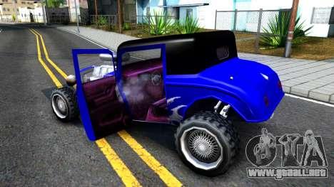 Duke Blue Hotknife Race Car para visión interna GTA San Andreas
