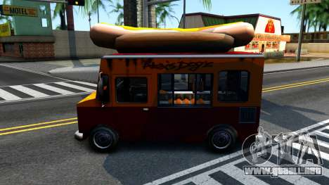 New HotDog Van para la visión correcta GTA San Andreas
