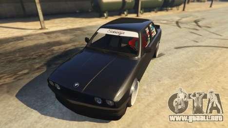 GTA 5 BMW E30 Drift vista trasera