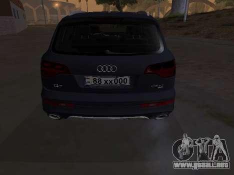 Audi Q7 Armenian para visión interna GTA San Andreas