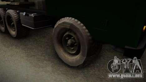 TAM 110 Serbian Military Vehicle para la visión correcta GTA San Andreas