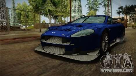 Aston Martin Racing DBR9 2005 v2.0.1 Dirt para la visión correcta GTA San Andreas