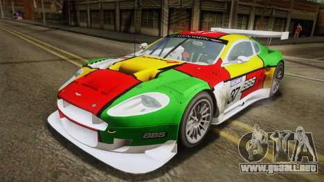 Aston Martin Racing DBR9 2005 v2.0.1 YCH Dirt para GTA San Andreas interior