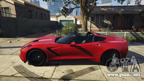 GTA 5 2014 Chevrolet Corvette C7 Stingray vista lateral izquierda