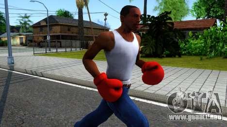 Red Boxing Gloves Team Fortress 2 para GTA San Andreas segunda pantalla
