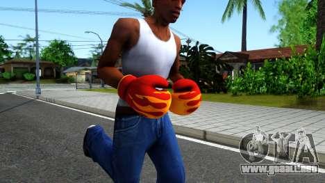 Red With Flames Boxing Gloves Team Fortress 2 para GTA San Andreas segunda pantalla