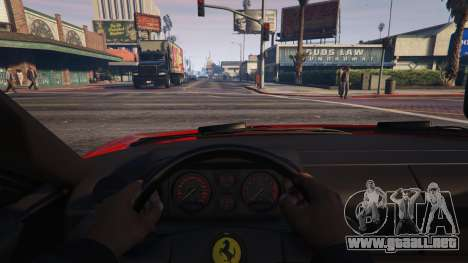 GTA 5 Ferrari Testarossa 512 TR 1991 для GTA 5 vista lateral derecha