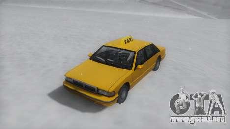 Taxi Winter IVF para la visión correcta GTA San Andreas