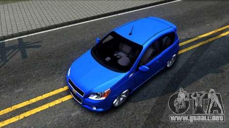 Chevrolet Aveo 2012 para GTA San Andreas vista hacia atrás