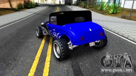Duke Blue Hotknife Race Car para la visión correcta GTA San Andreas