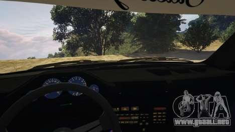 GTA 5 BMW E30 Drift vista lateral derecha