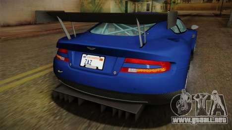 Aston Martin Racing DBR9 2005 v2.0.1 Dirt para el motor de GTA San Andreas