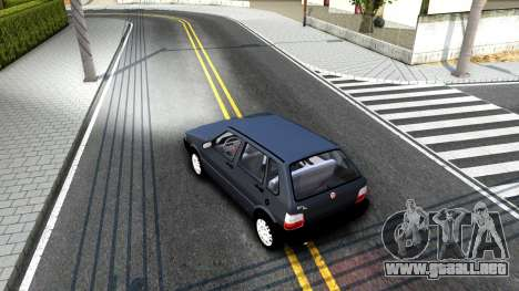 Fiat Uno Fire Mille V1.5 para la visión correcta GTA San Andreas