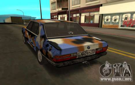 BMW E28 para GTA San Andreas left
