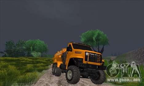 Ural Camión De Combustible Siguiente para GTA San Andreas