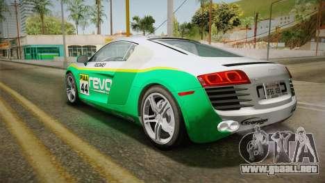 Audi R8 Coupe 4.2 FSI quattro US-Spec v1.0.0 YCH para la vista superior GTA San Andreas
