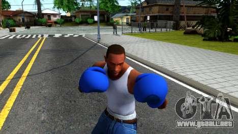 Blue Boxing Gloves Team Fortress 2 para GTA San Andreas tercera pantalla