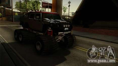 Hummer H2 6x6 Monster para la visión correcta GTA San Andreas