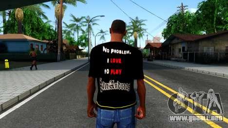 Love To Play San Andreas T-Shirt para GTA San Andreas tercera pantalla