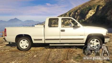 GTA 5 2000 Chevrolet Silverado 1500 vista lateral izquierda